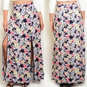NWT floral maxi skirt Size 1X